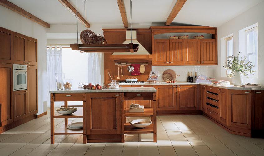 Massivholzküche Modell Village