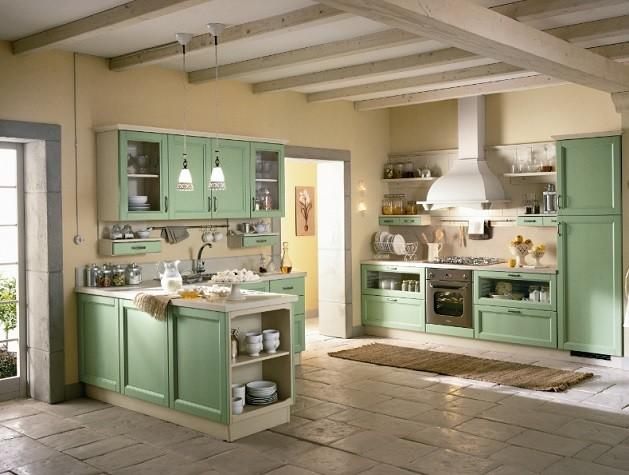 Küche Hellgrün modell povera hellgrün phönix massivholzküchen