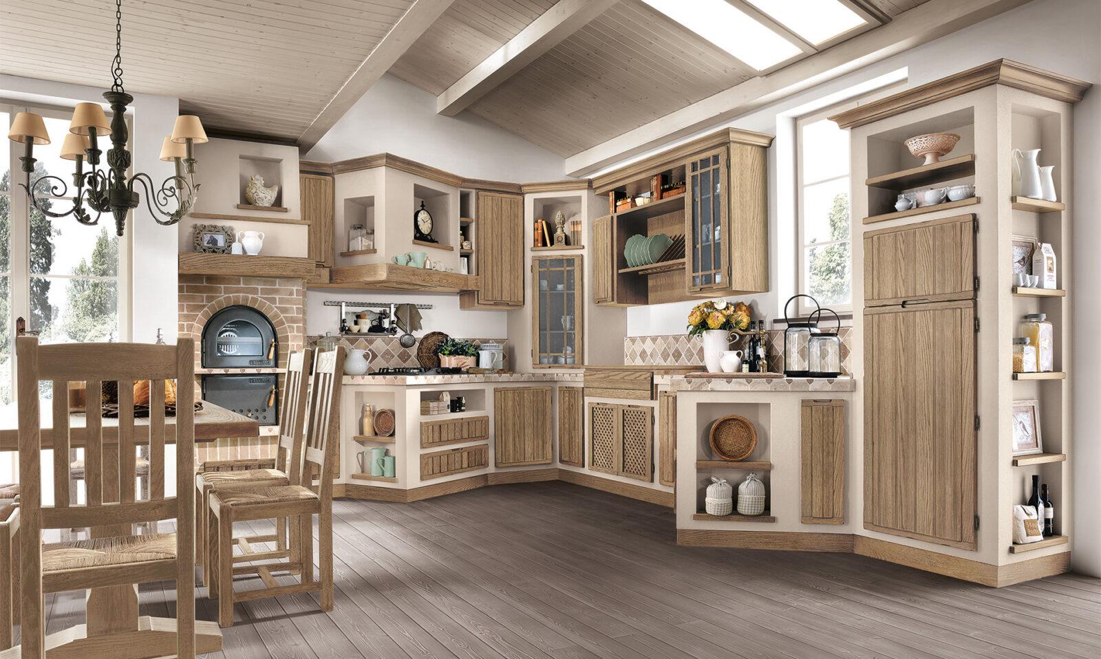Modell elena ph nix massivholzk chen for Cucine antiche moderne